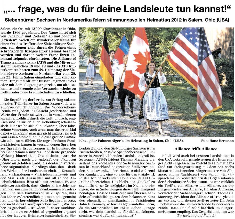 Artikel in der SZ - maldorf-hohndorf.de